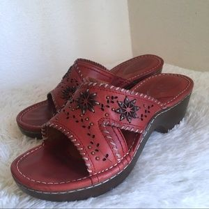 Ariat Bella leather heeled sandal mules size 8